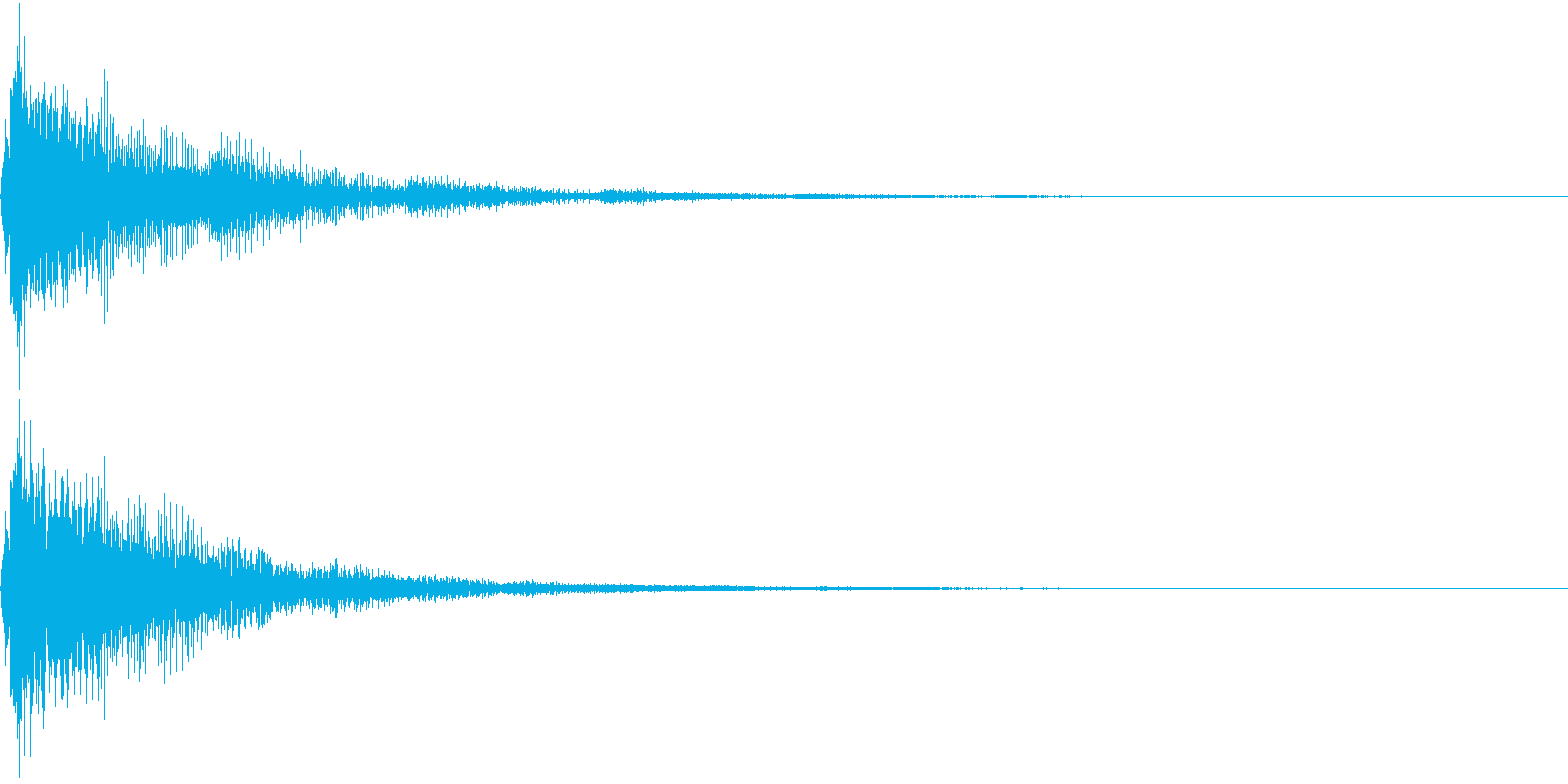 OK 派手めな演出の決定音 攻撃音にもの再生済みの波形