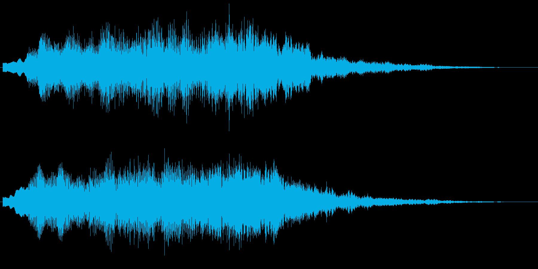綺麗に澄んだ音 柔らかい音 サウンドロゴの再生済みの波形