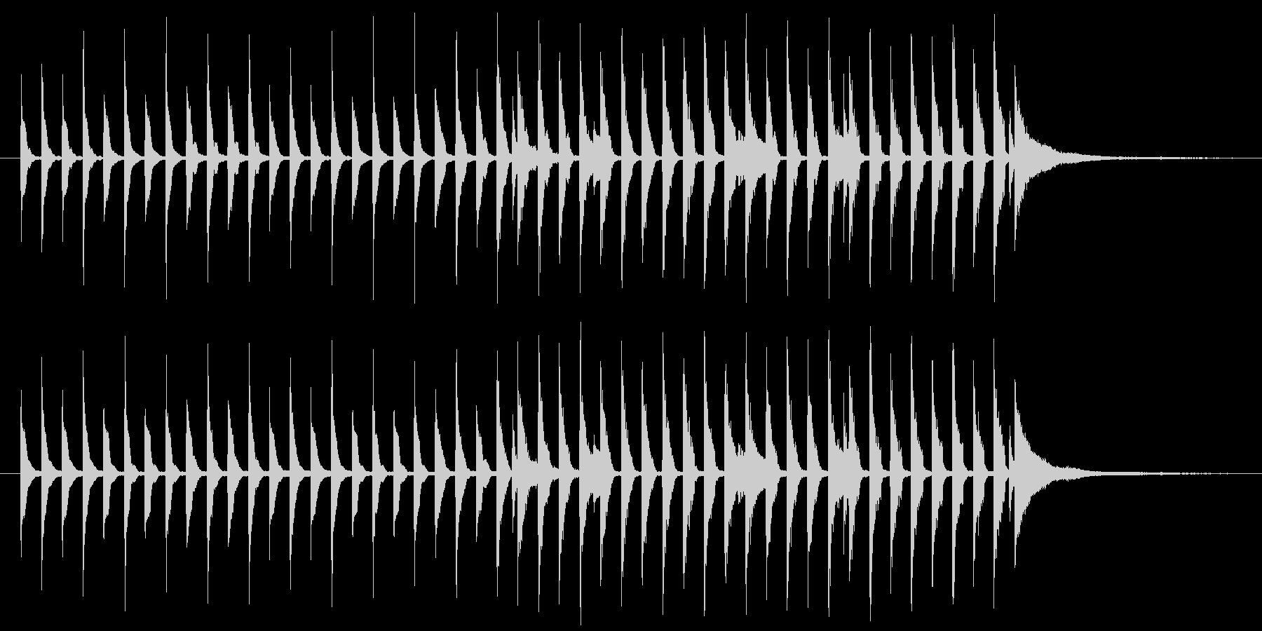 わくわくするポップな曲の未再生の波形