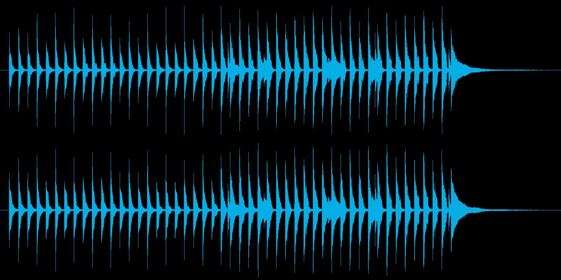わくわくするポップな曲の再生済みの波形
