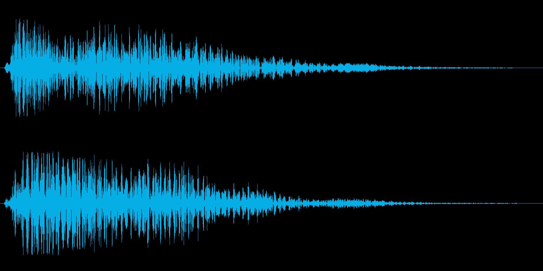 シンセ音を重ねた和音系のオシャレな効果音の再生済みの波形
