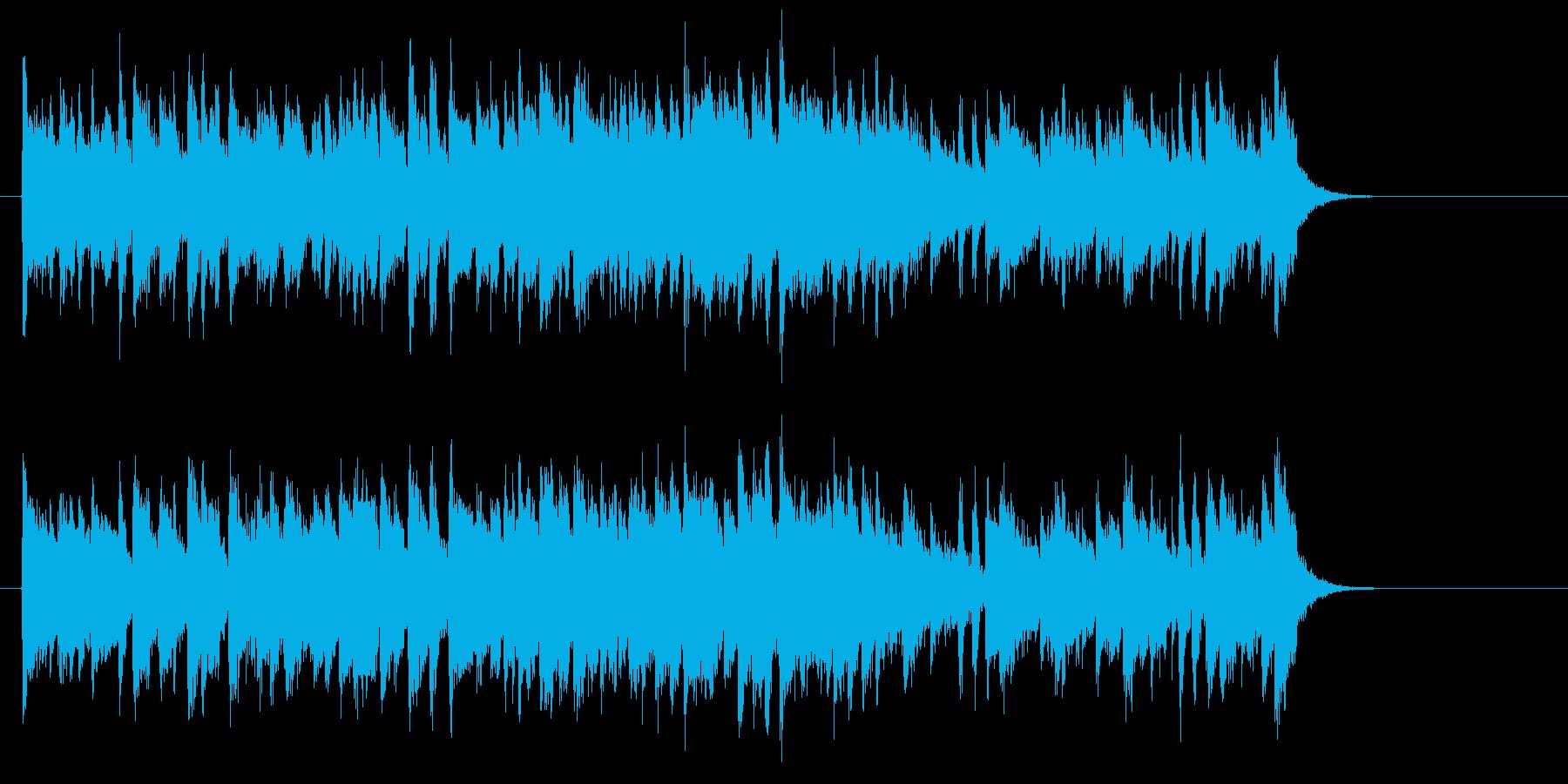 大人の軽快なフュージョン(サビ~エンド)の再生済みの波形