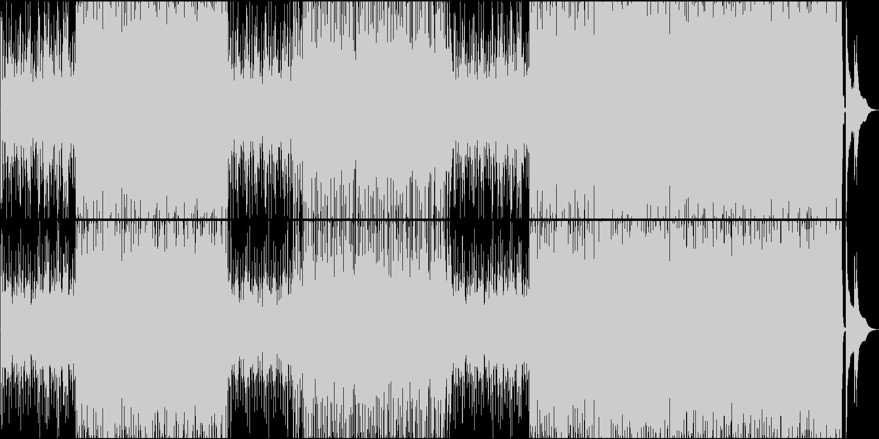 フルートメロ、少しハードで軽快なボサノバの未再生の波形