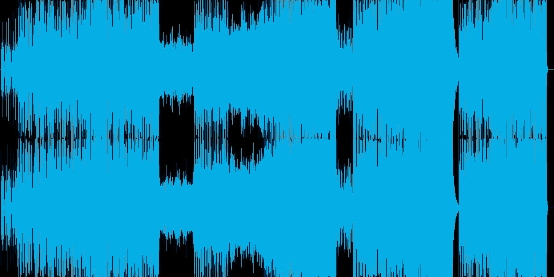 ドラマチックな展開の壮大な曲の再生済みの波形