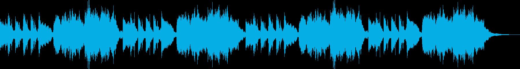 ほのぼのとしたオルゴール風ジングルロングの再生済みの波形