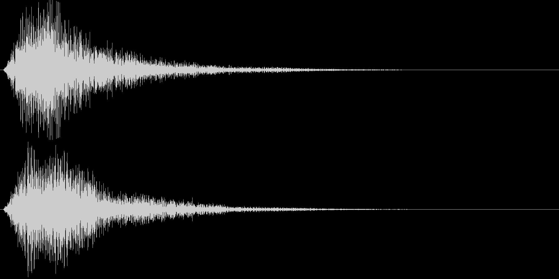 ジャン(厳かな)の未再生の波形