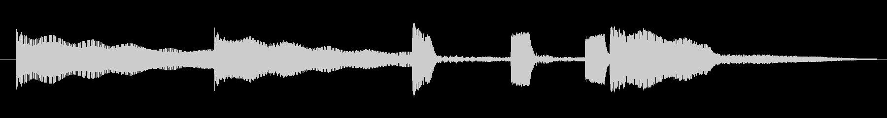 3秒のコミカルなビブラフォンサウンドロゴの未再生の波形