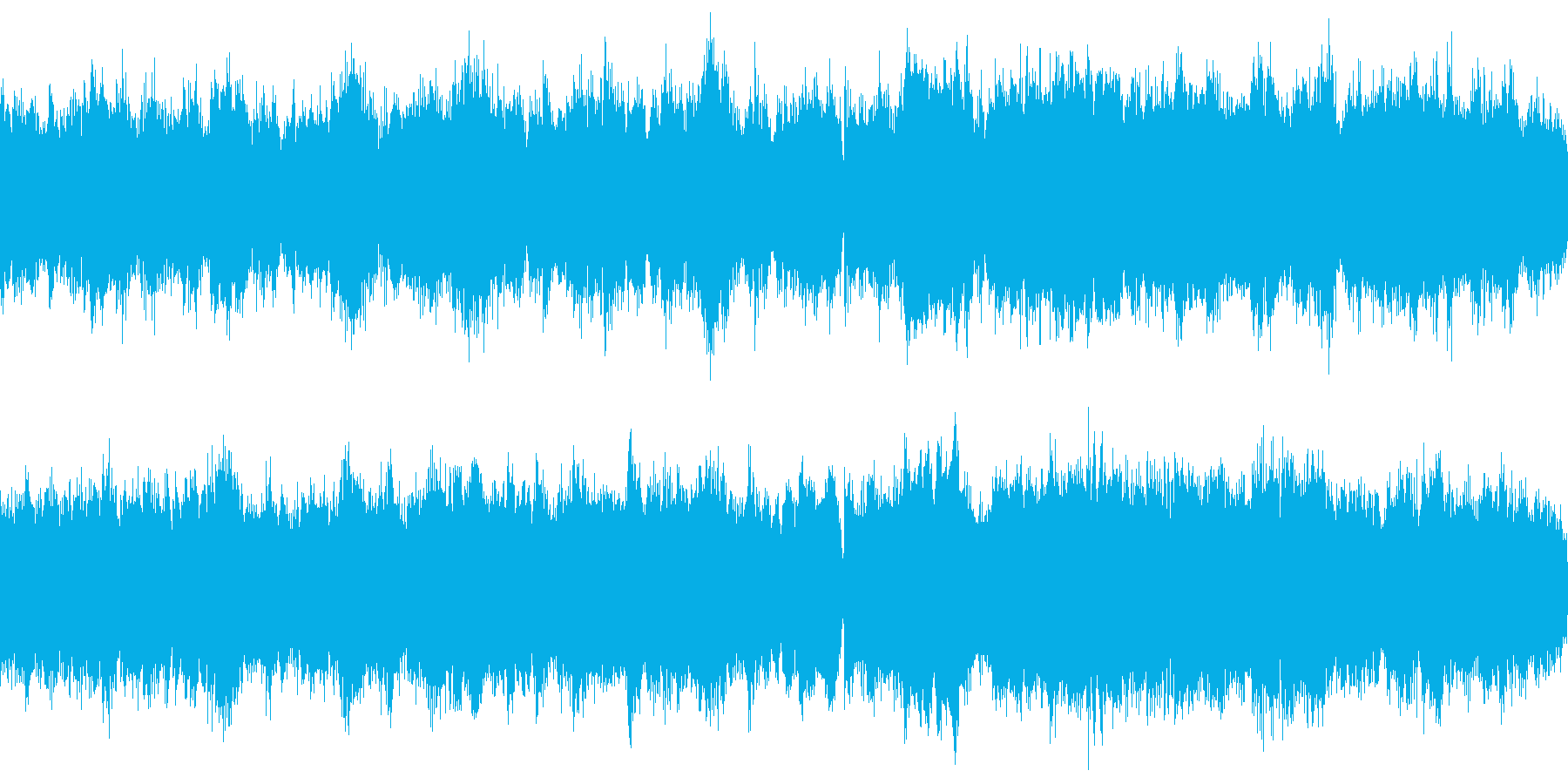 雪山、雪国のフィールドBGMの再生済みの波形
