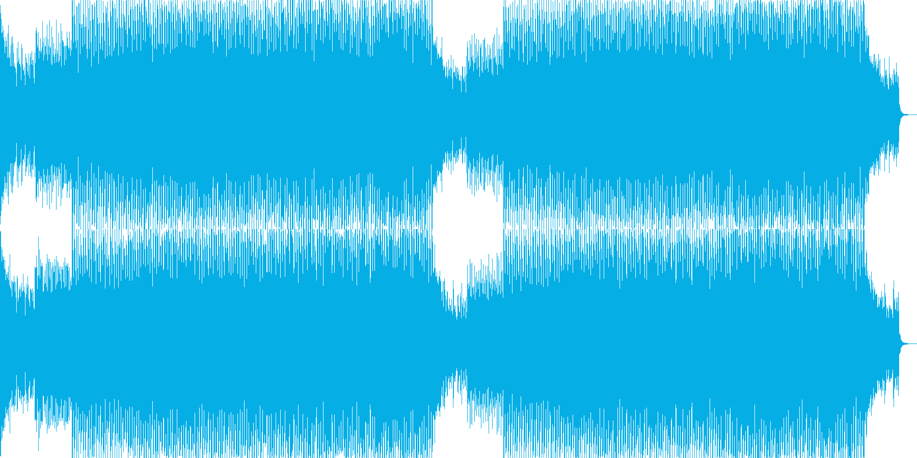 EDMクラブ系ダンスミュージック-63の再生済みの波形