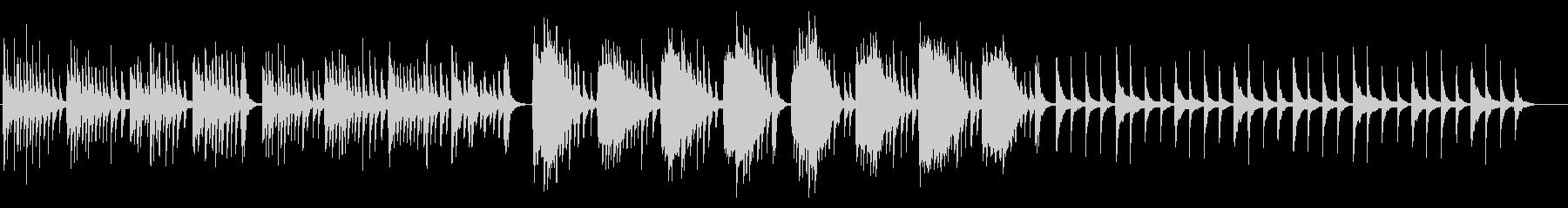 和風で切ないピアノとストリングスBGMの未再生の波形