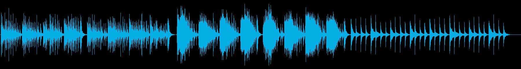 和風で切ないピアノとストリングスBGMの再生済みの波形