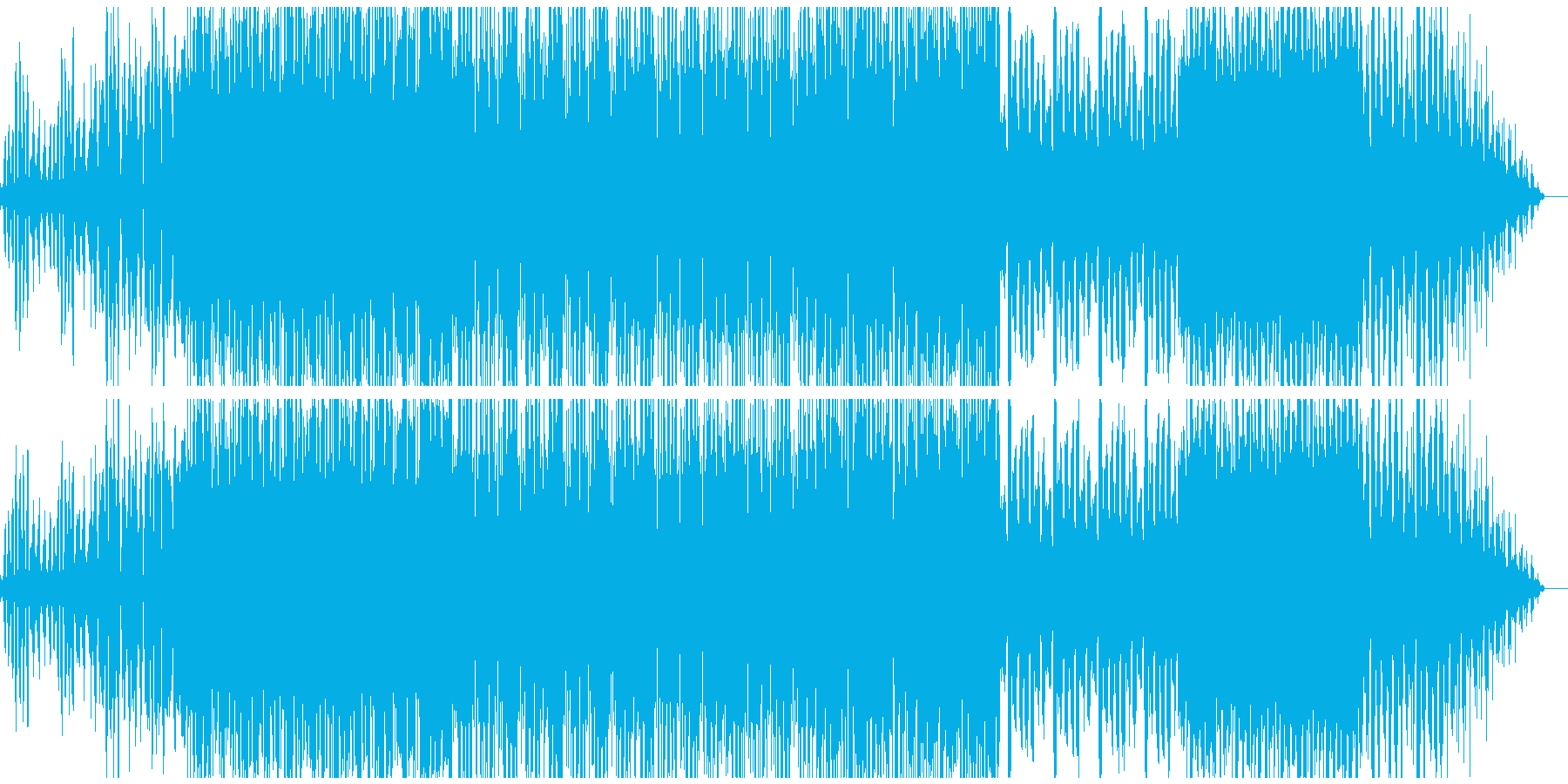 広がりあのあるダークテクノの再生済みの波形