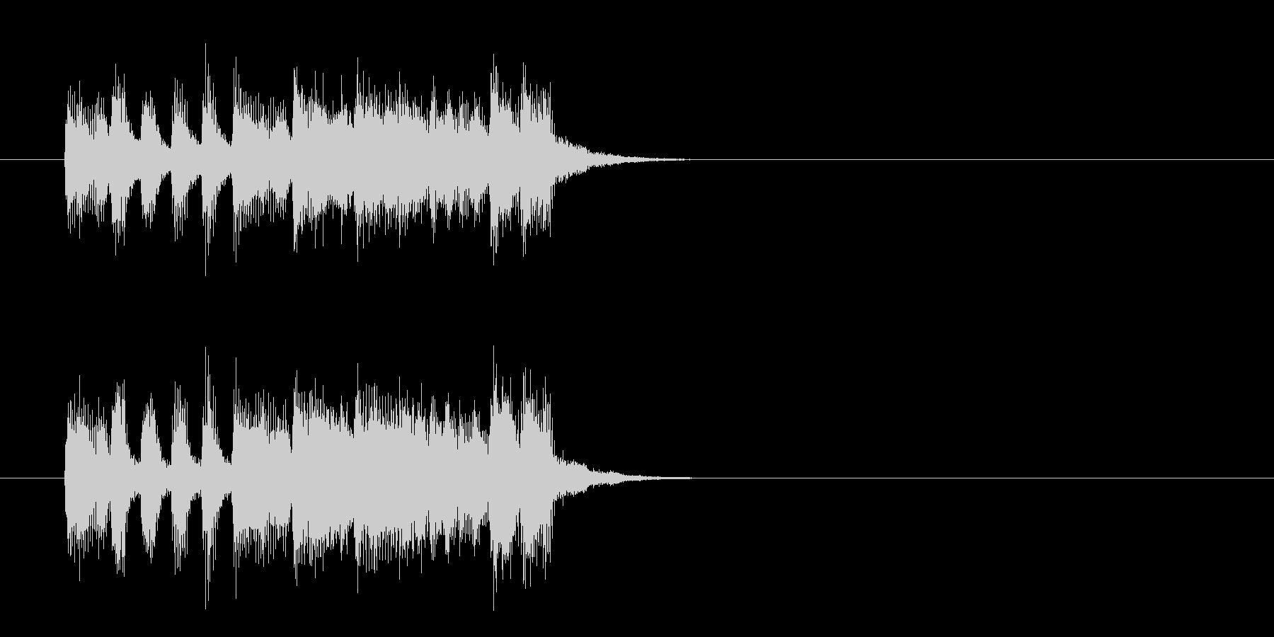 ジングル(ポップ/フュージョン風)の未再生の波形
