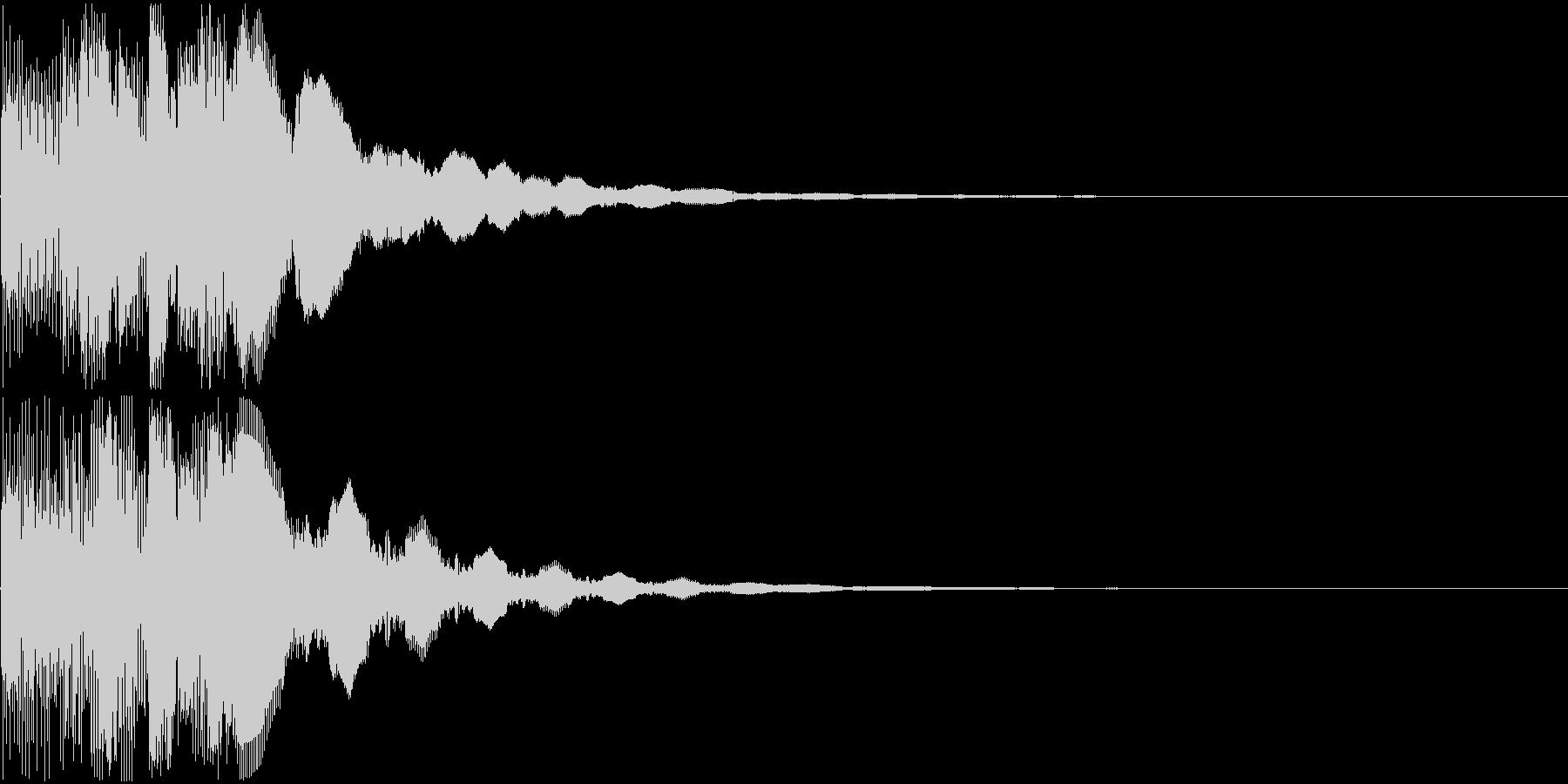 ピロロロロン(決定音)の未再生の波形