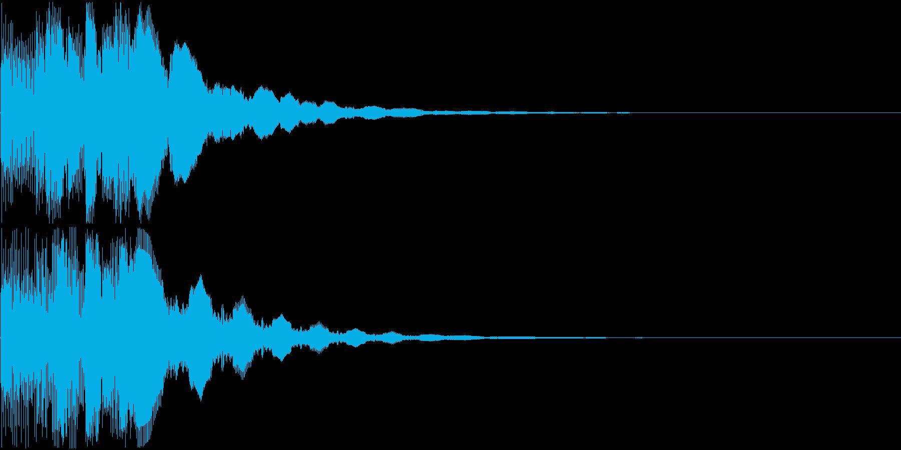 ピロロロロン(決定音)の再生済みの波形