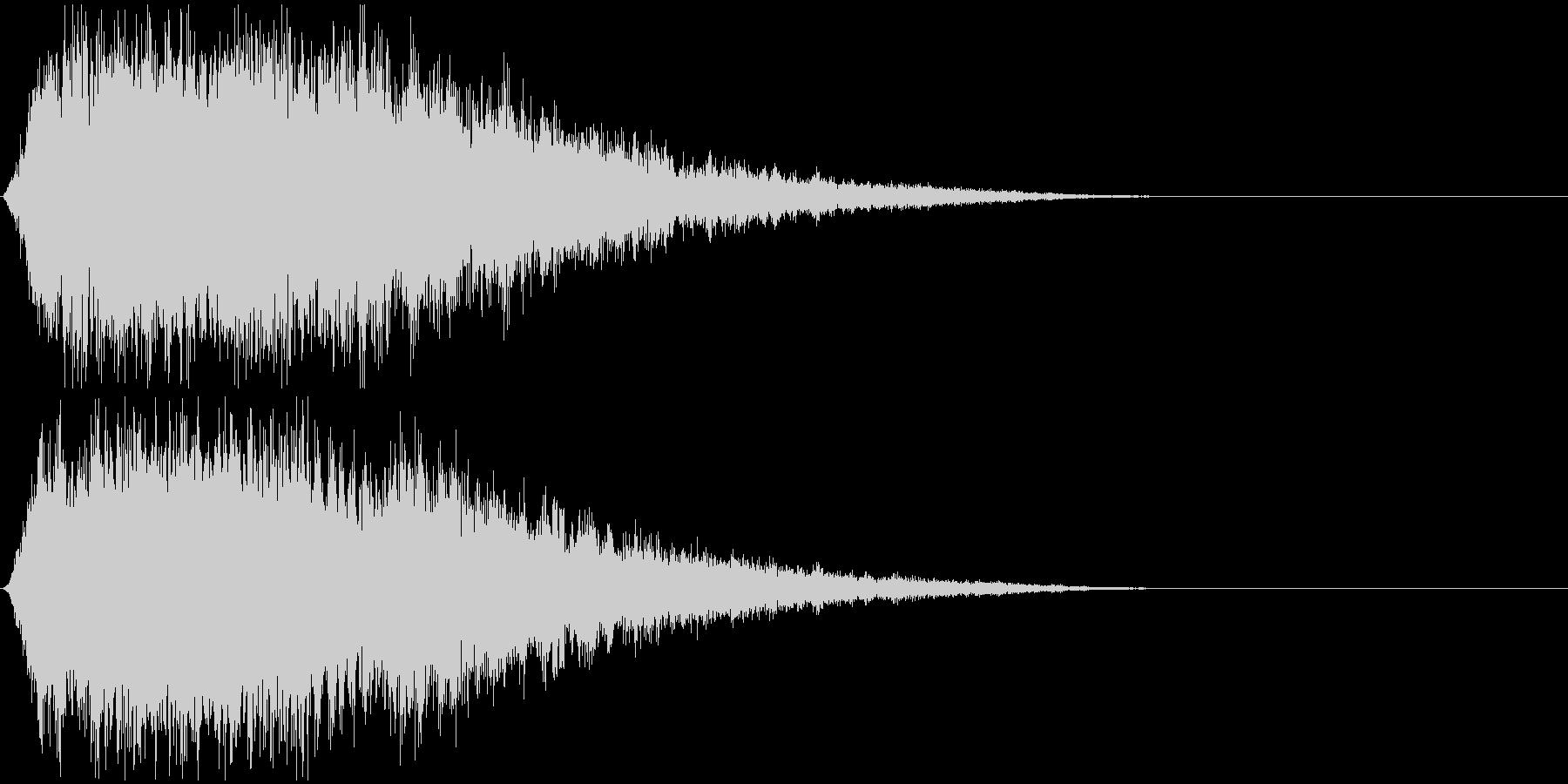 神秘的なシンセ音#1・サウンドロゴ等〜の未再生の波形
