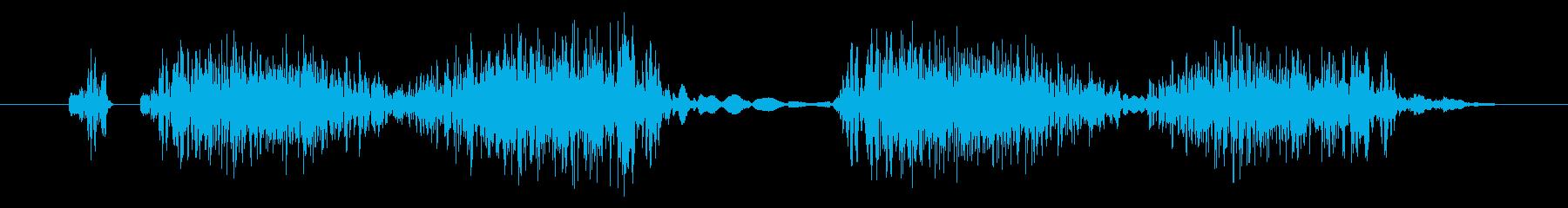 チュクチュク!DJのスクラッチ効果音!1の再生済みの波形