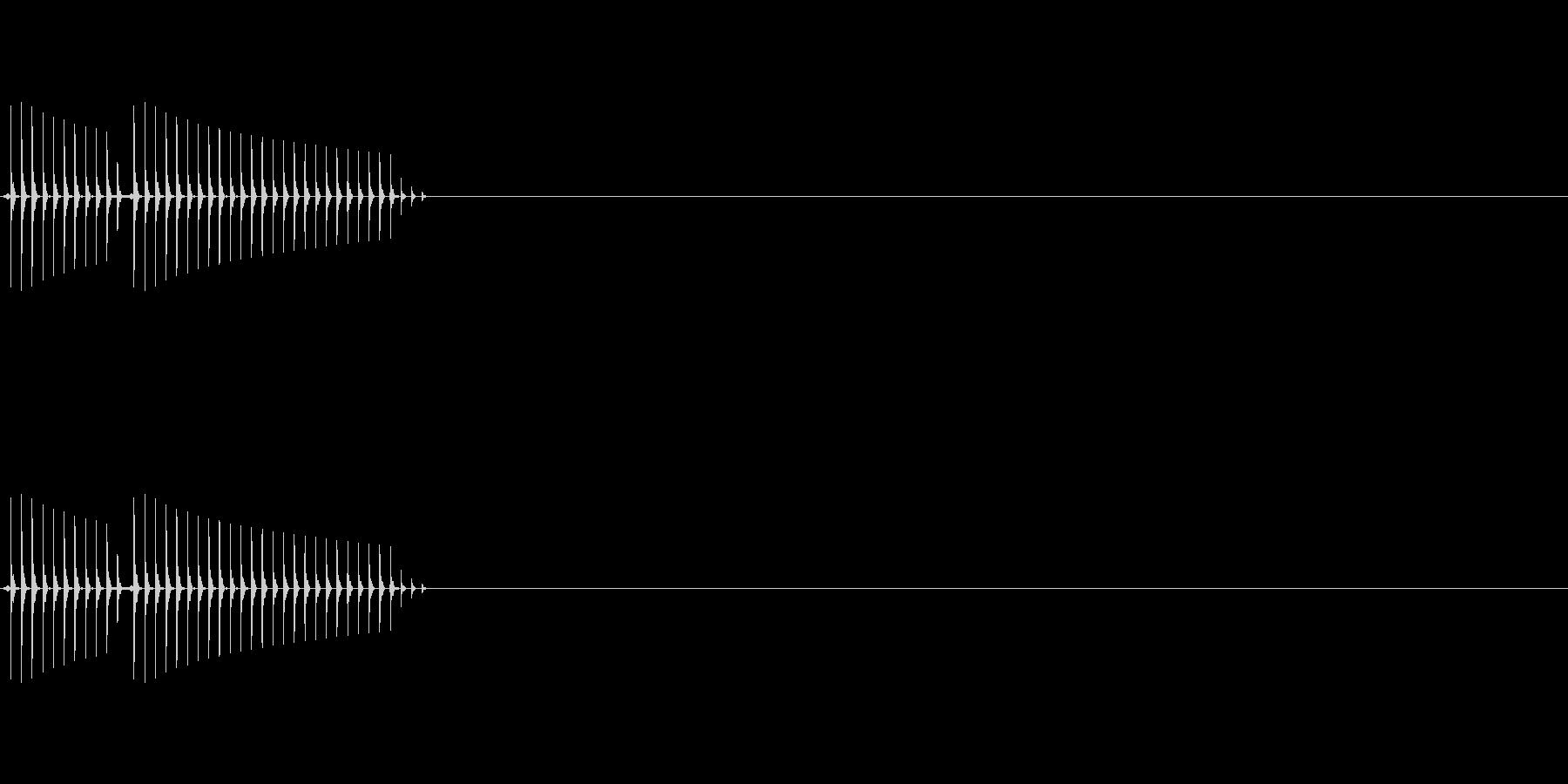 クイズの不正解時などになるような音です。の未再生の波形