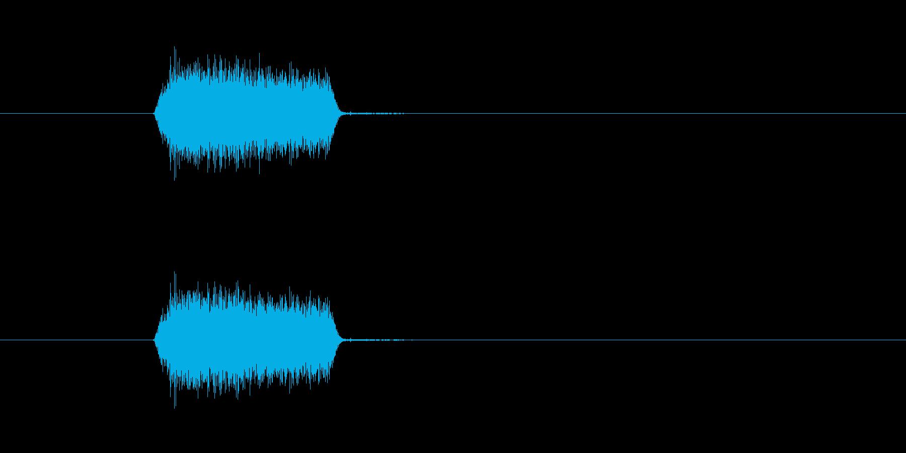 プシュ(スプレー噴射音)の再生済みの波形