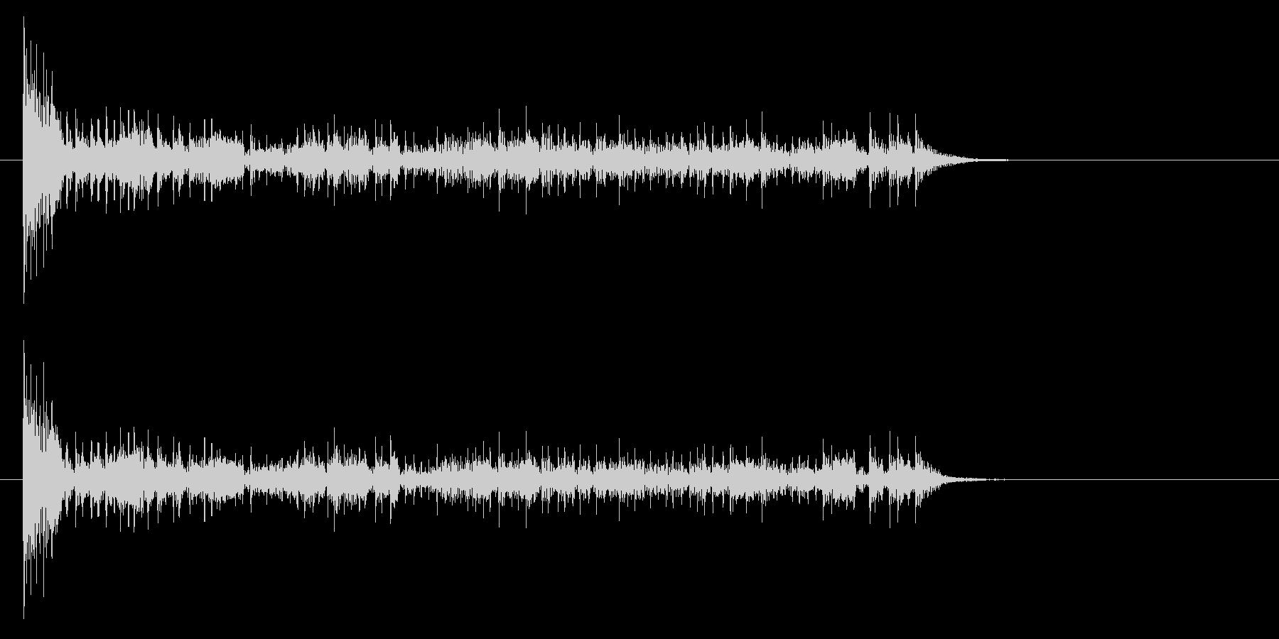 結果発表ドコドコ・ロール10秒シンバル無の未再生の波形