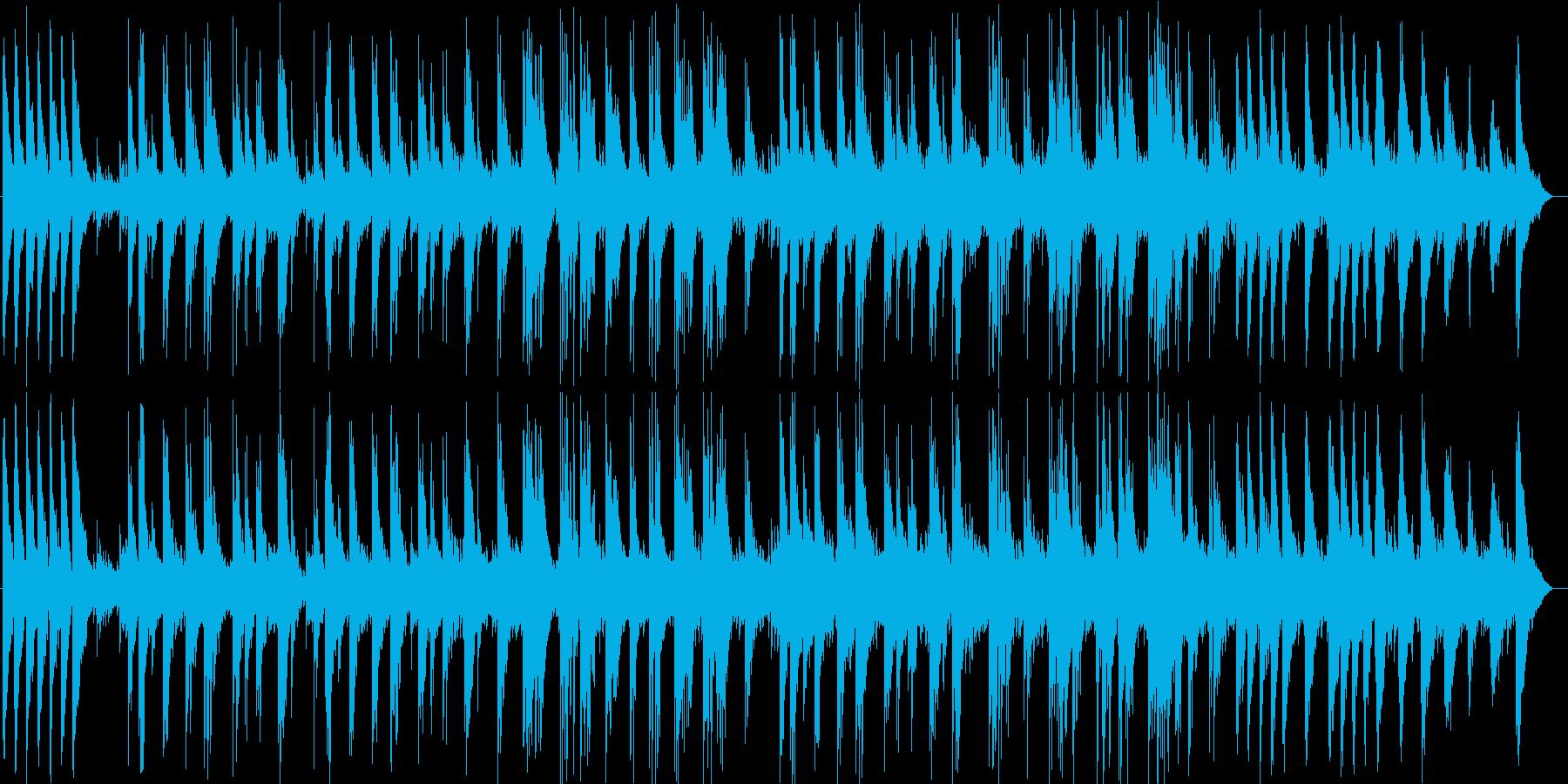 ゆったり切ないギター・シンセ曲の再生済みの波形
