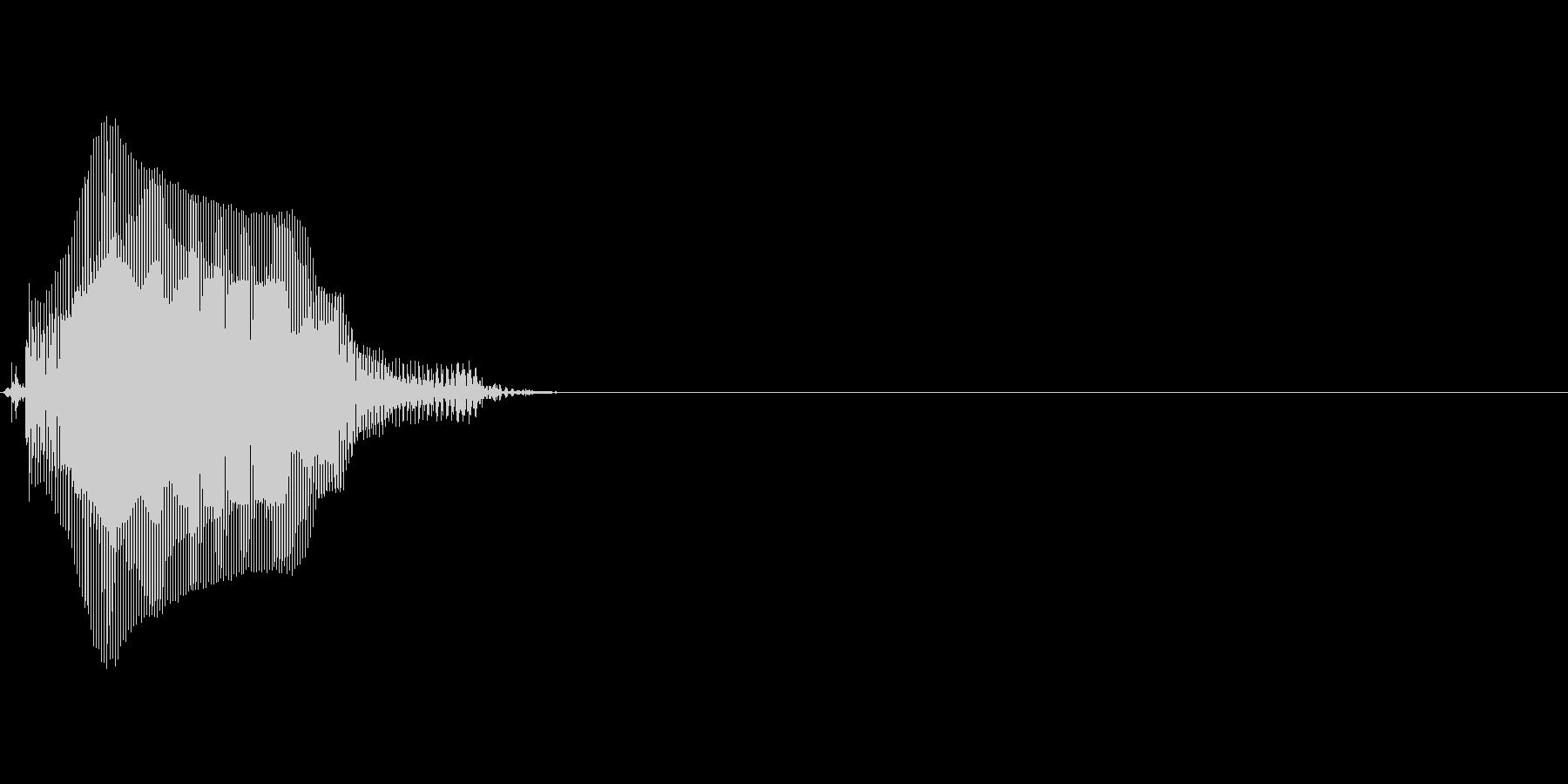 点の未再生の波形