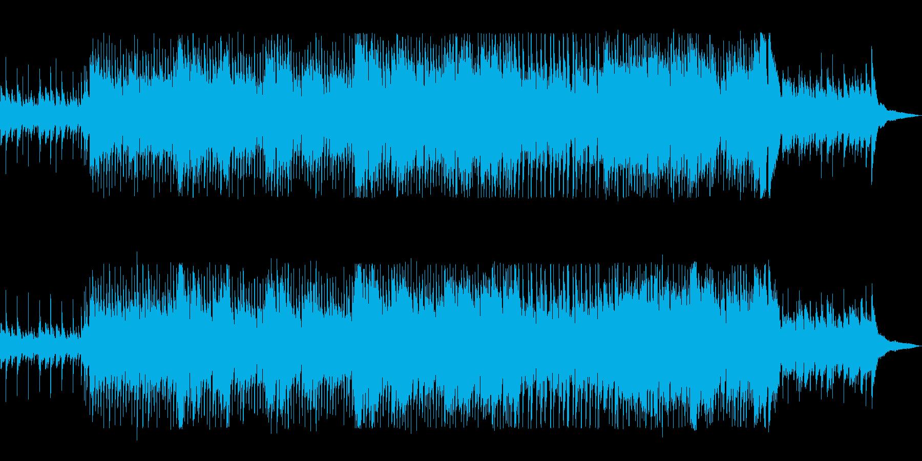ギターと鍵盤ハーモニカの爽やかポップスの再生済みの波形