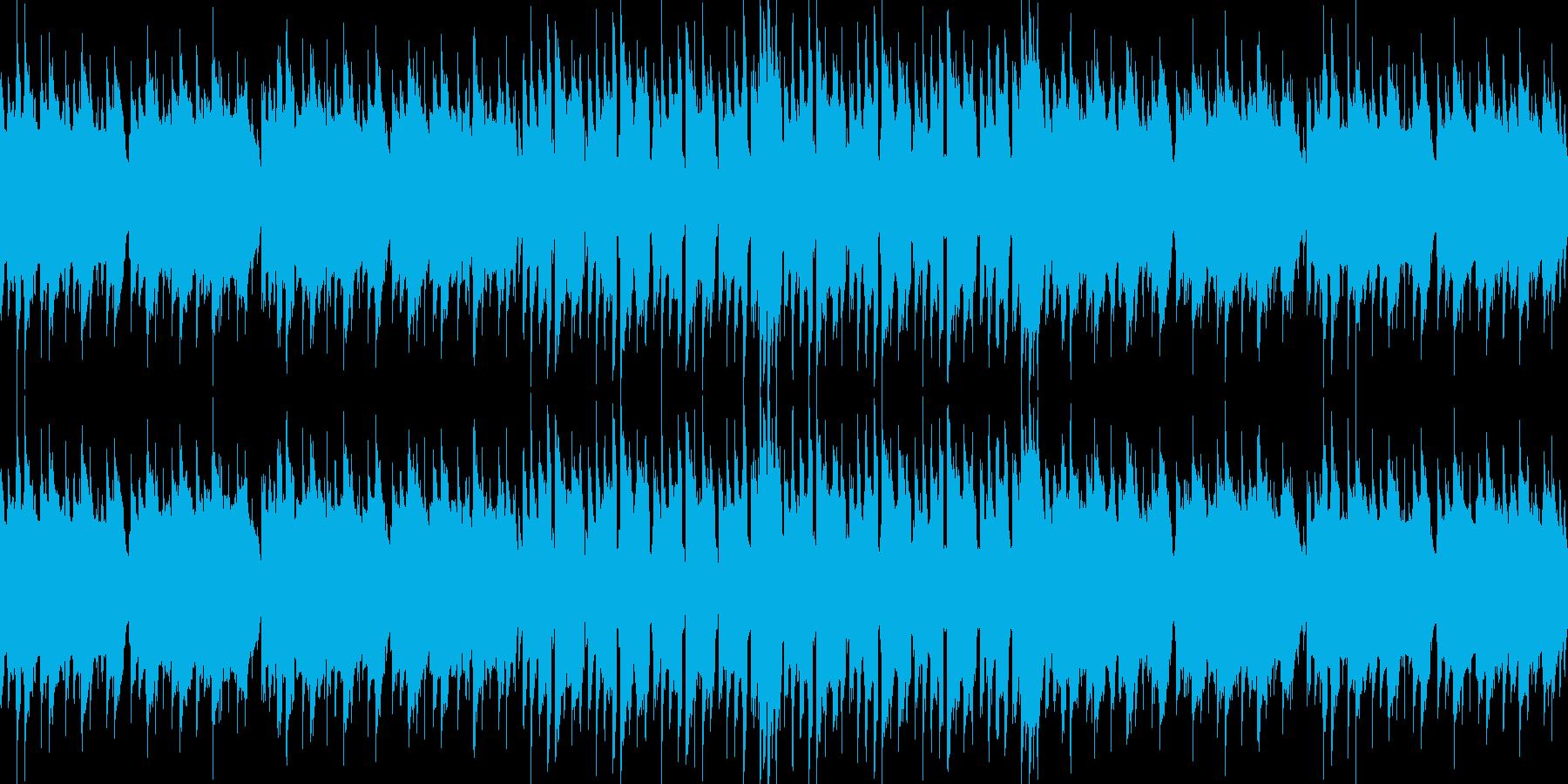 レトロゲームのBGMその2の再生済みの波形