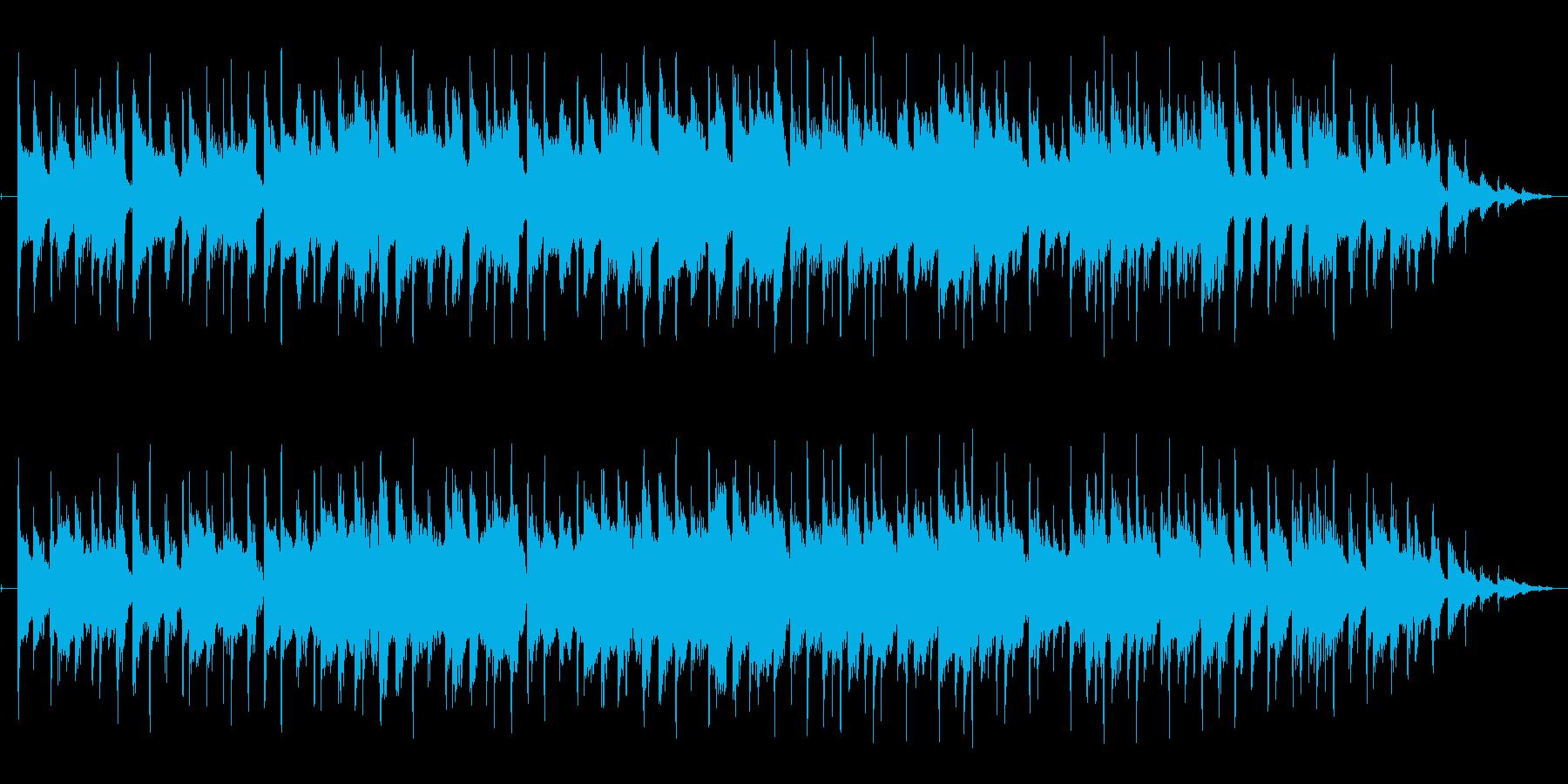落ち着いた雰囲気のボサノバ風の曲です。の再生済みの波形