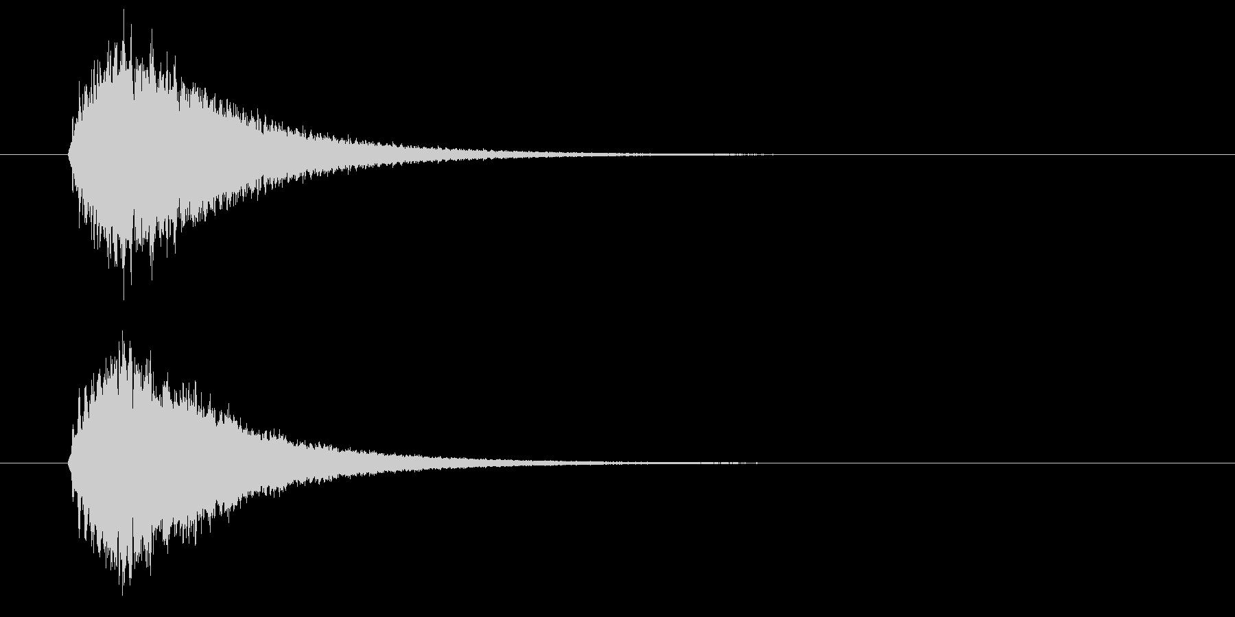 キラーン(華やかな音・余韻長い) 02の未再生の波形