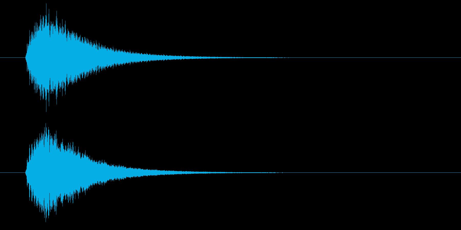 キラーン(華やかな音・余韻長い) 02の再生済みの波形