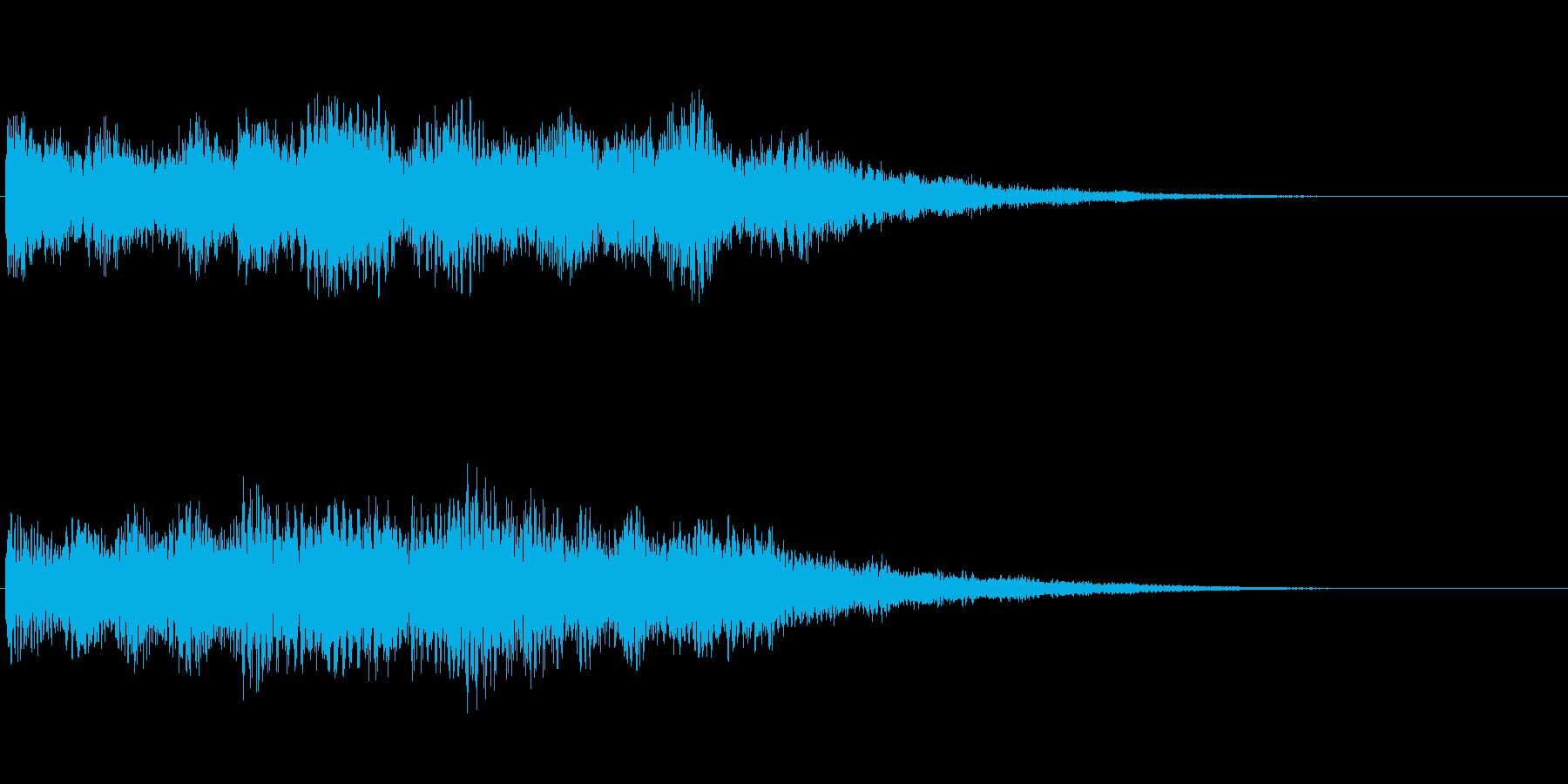 幻想系 ロゴ 光 魔法の再生済みの波形