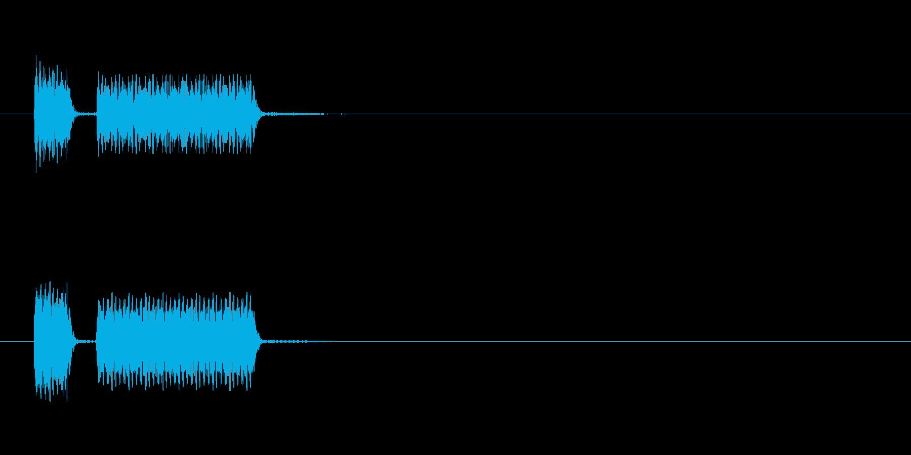 不正解のブブーというビープ音の再生済みの波形