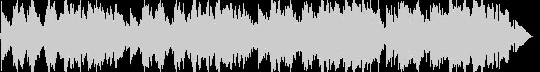 叙情的な感動のピアノバラードの未再生の波形