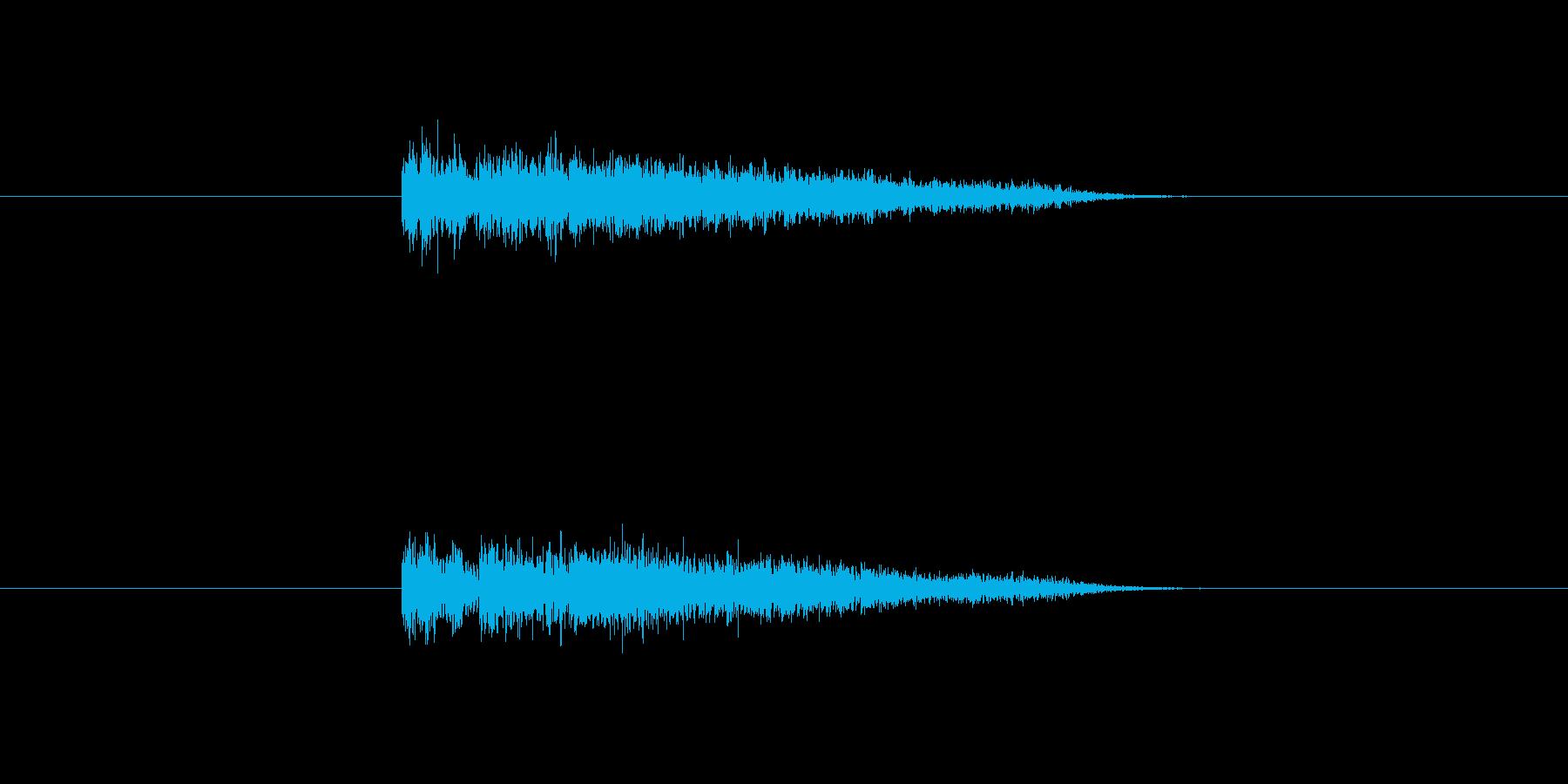 大砲や爆弾で大爆発が起きた様な音です。の再生済みの波形