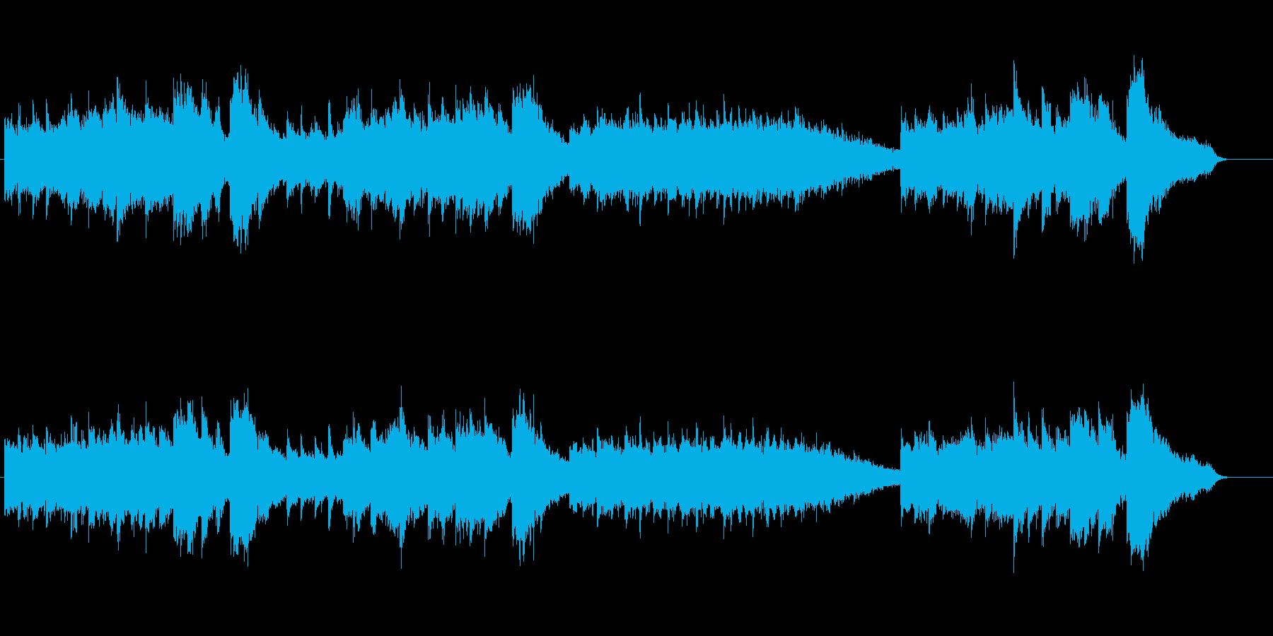 環境音楽(リラクセーション系)の再生済みの波形