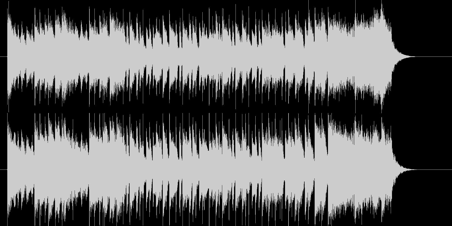 激しくてアップテンポなリズムのジングル曲の未再生の波形