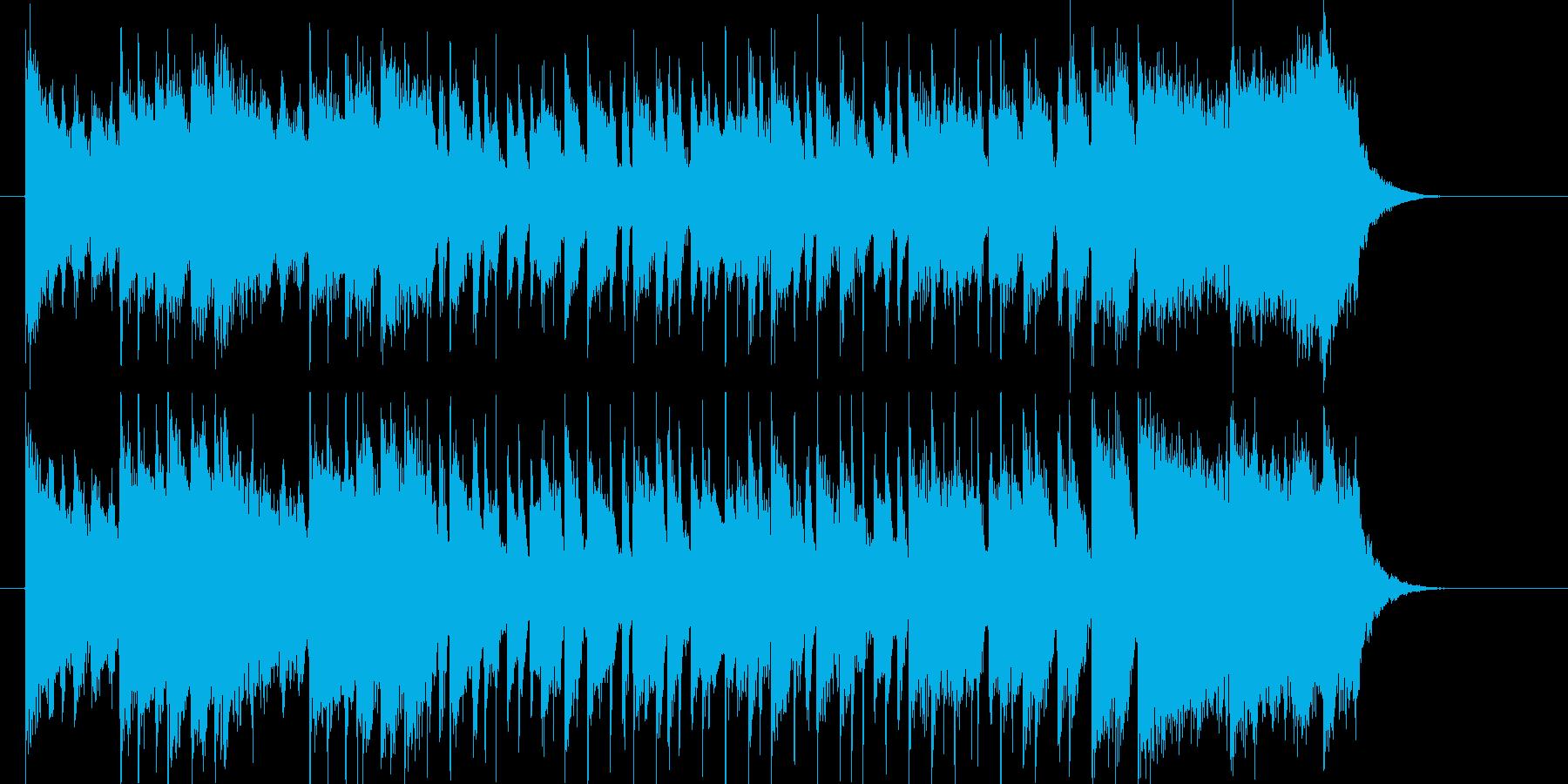 激しくてアップテンポなリズムのジングル曲の再生済みの波形