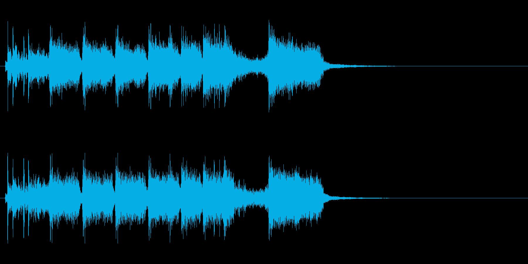 パワフルなキメが爽快なジングルの再生済みの波形