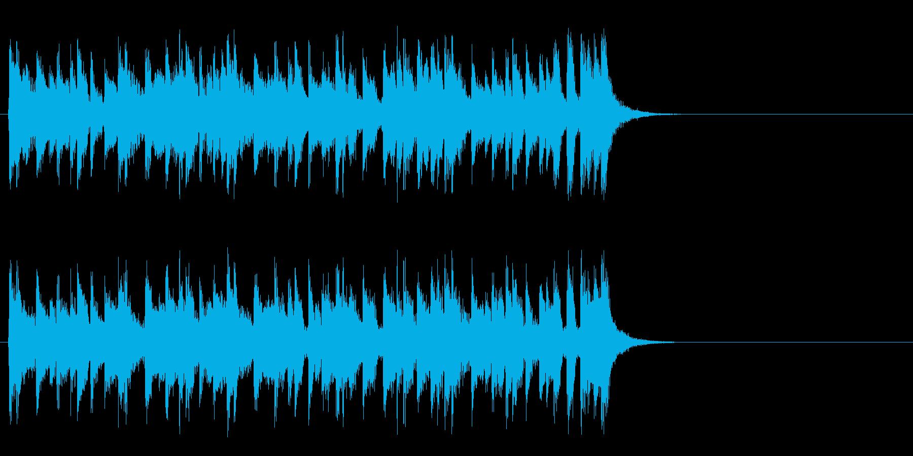 リラックスなフュージョン(サビ)の再生済みの波形