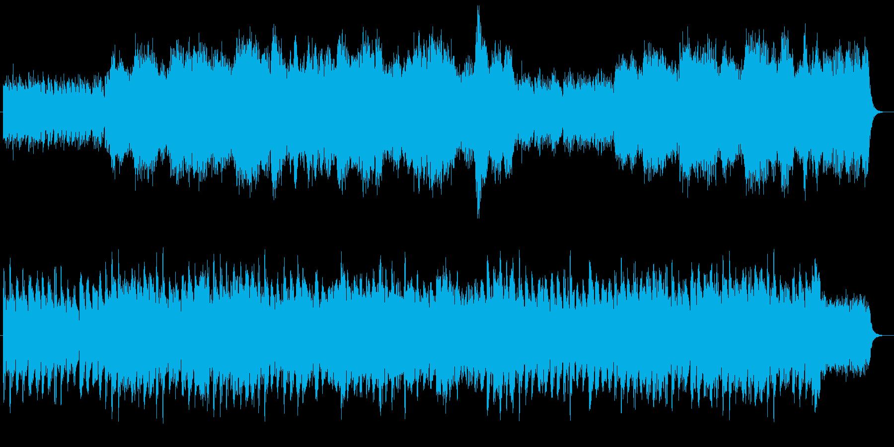 ミステリーのオープニングのイメージ。の再生済みの波形