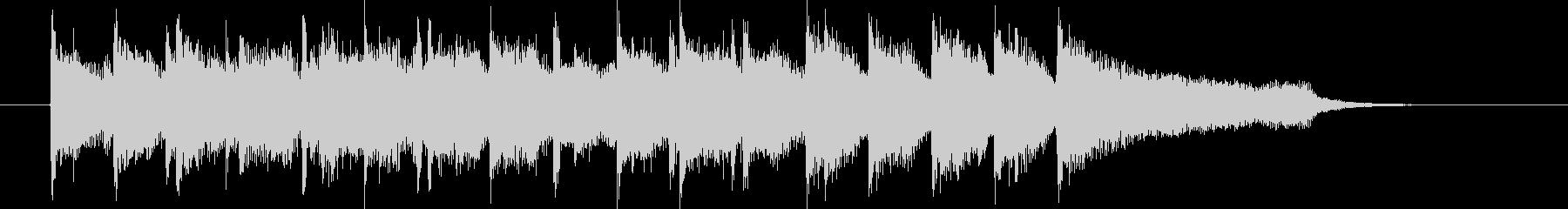 明るく弾みのある短いシンセサイザーの曲の未再生の波形