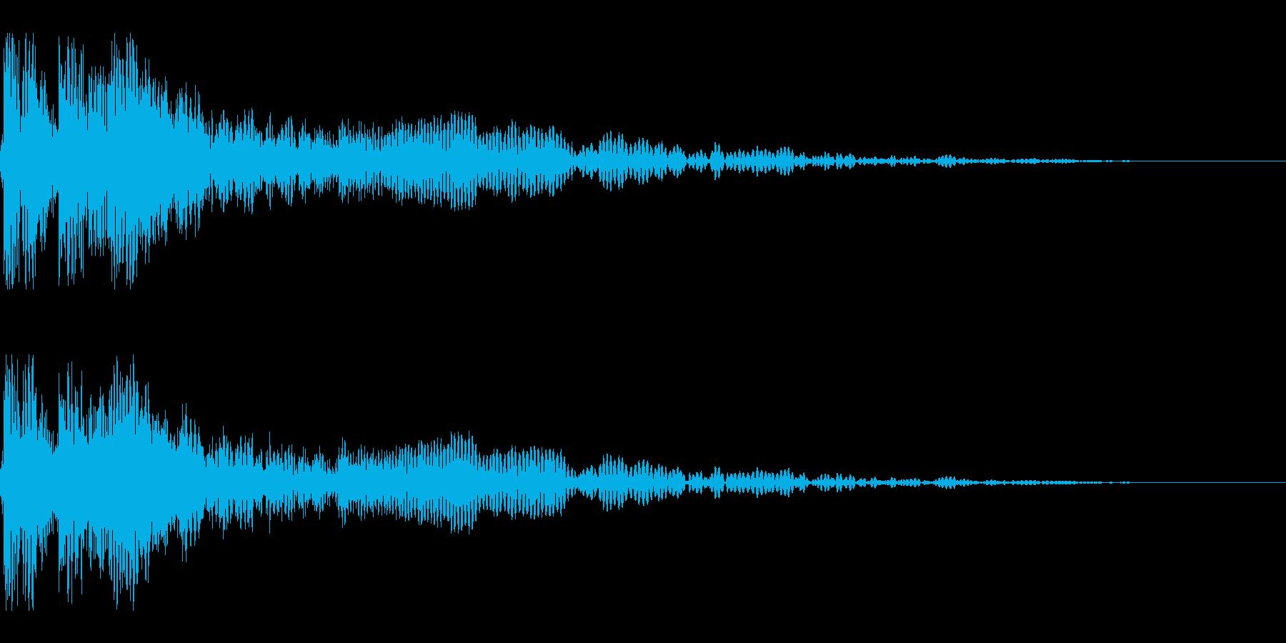 ドゥーン(敵が消滅する音)の再生済みの波形
