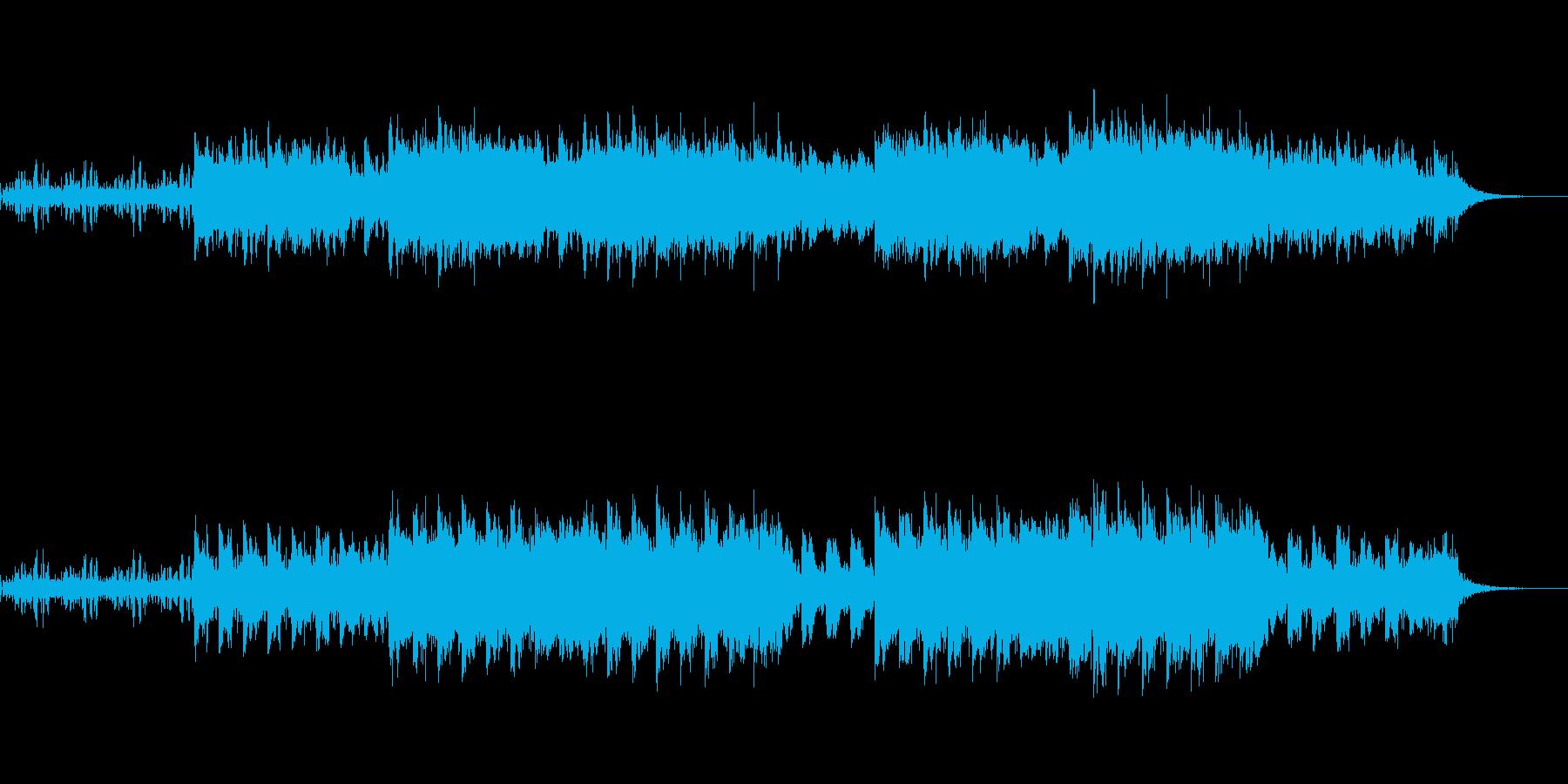 不気味なシンセサウンドの再生済みの波形