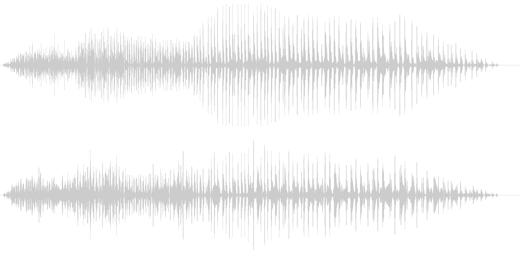 グオーン(低音の長めの効果音)の未再生の波形