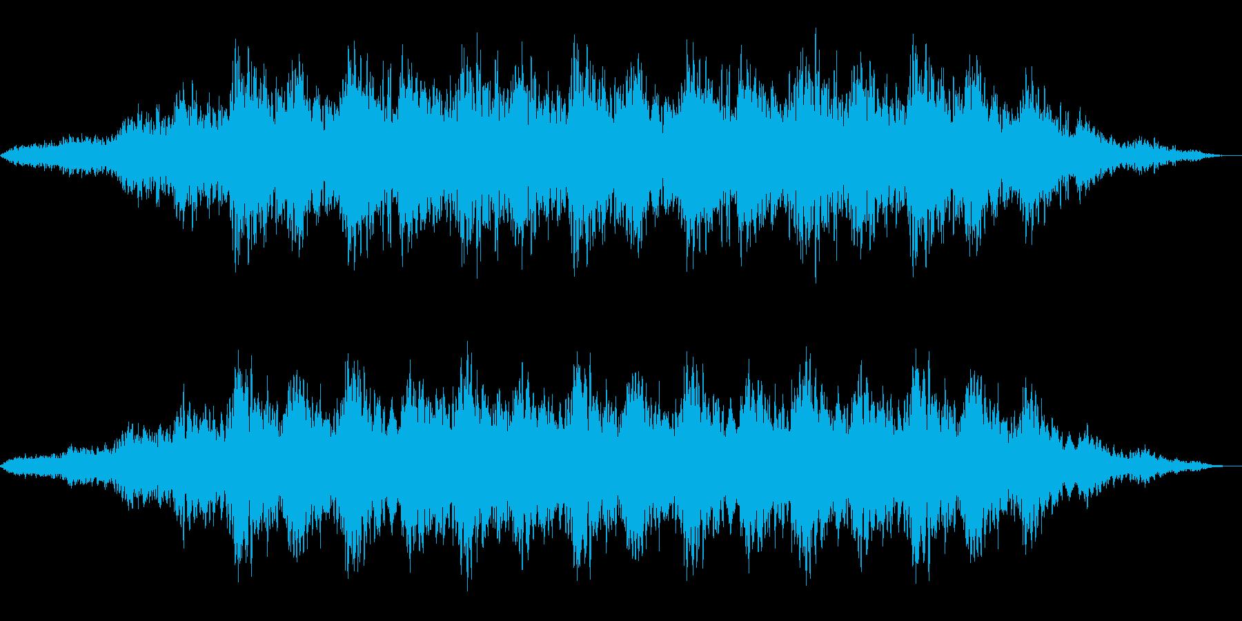 神秘的な雰囲気のアンビエント(背景音)3の再生済みの波形