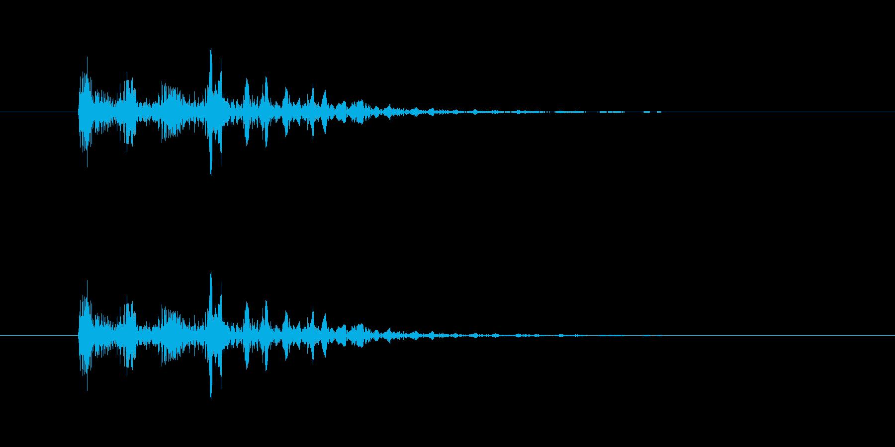 ポップ消失の再生済みの波形