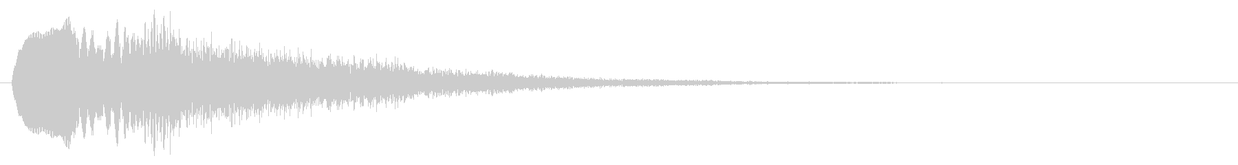 ミス 透明感のあるゲームオーバー 決定音の未再生の波形