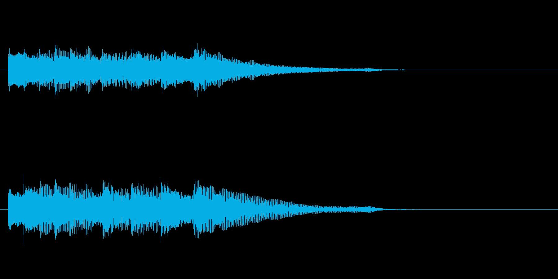 アイキャッチ・メッセージ音なフレーズの再生済みの波形