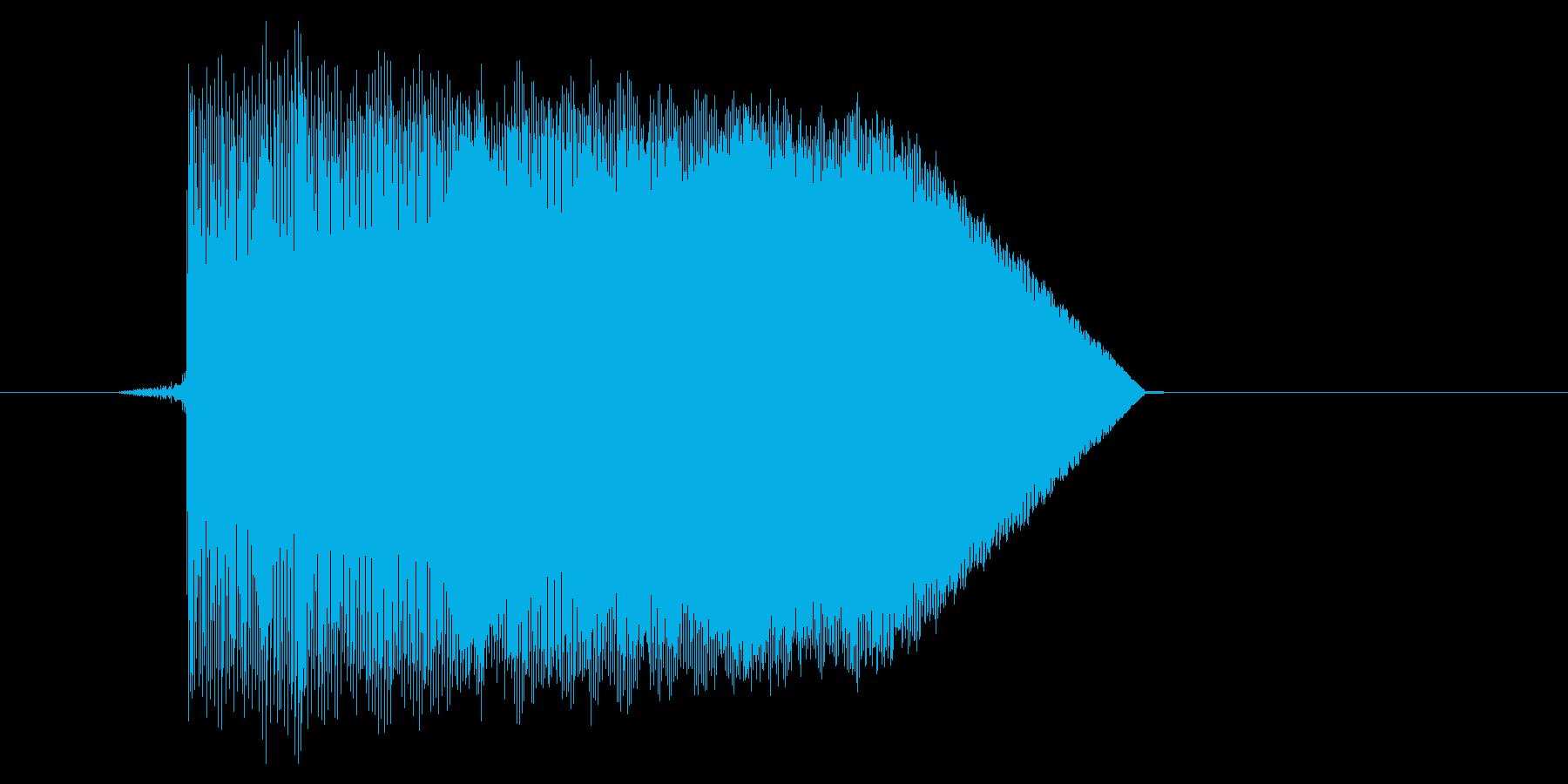 ゲーム(ファミコン風)ジャンプ音_036の再生済みの波形